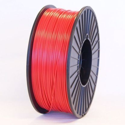 Picture of PLA Plastic filament roll for all 3D Printer types, Red